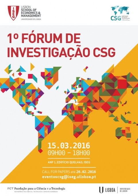 Call for Abstracts 1st CSG RESEARCH FORUM