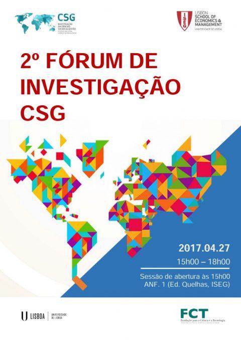 27 ABR 2017 | 2º Fórum de Investigação CSG – Programa