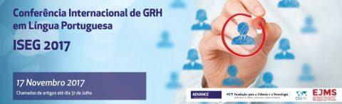 17 NOV 2017 | Conferência Internacional de GRH em Língua Portuguesa – Chamada para participação