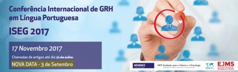 17 NOV 2017 | Conferência Internacional de GRH em Língua Portuguesa – Prorrogado prazo de submissão de propostas