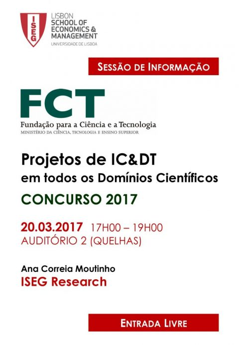 20 MAR, 5:00 p.m. | Information session: IC & DT FCT 2017 Projects