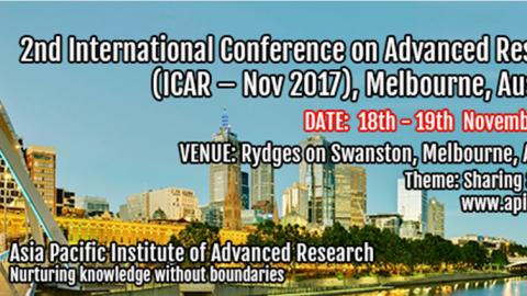 18-19 NOV 2017   2ª Edição da Conferência Internacional em Investigação Avançada (ICAR-Nov 2017) – Chamada para participação