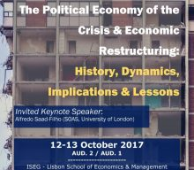 "12-13 OCT 2017 | Workshop""The Political Economy of the Crisis & Economic Restructuring: History, Dynamics, Implications & Lessons"" – Registration open!"