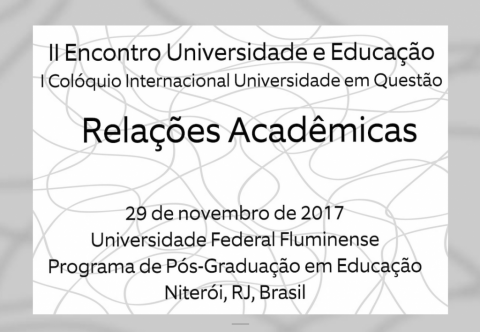 19 NOV 2017 | I International Colloquium University in Question: Academic Relations 2017