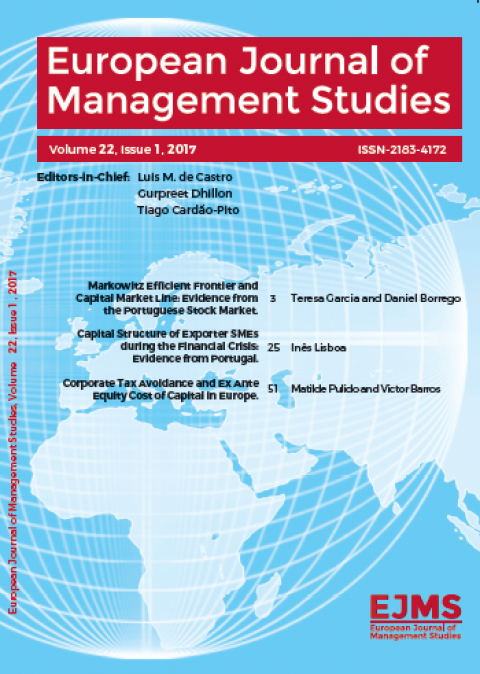 European Journal of Management Studies (EJMS) – Chamada aberta em permanência