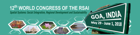 "29 MAI-1 JUN 2018 | 12º RSAI World Congress ""Spatial Systems: Social Integration, Regional Development and Sustainability"" – Chamada para participação"