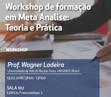 19 FEV 2018 | Workshop de Formação em Meta-Análise: Teoria e Prática, com Wagner Ladeira (Professor da Unisinos, Brasil)