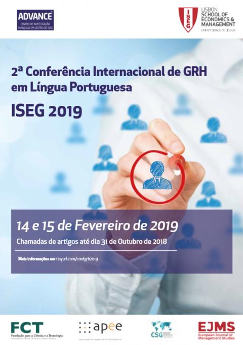 15-16 FEV 2019 | 2ª Conferência Internacional em Língua Portuguesa ISEG – Chamada de trabalhos