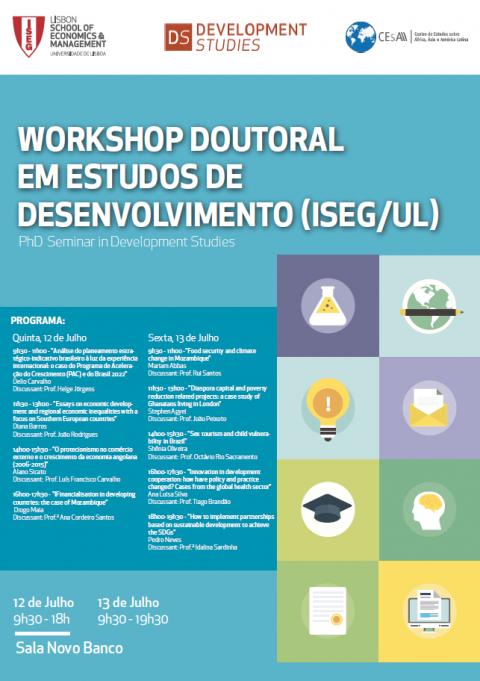 12 e 13 JUL 2018 | Workshop em Estudos de Desenvolvimento