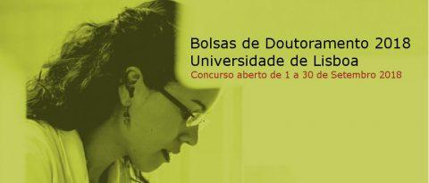 Bolsas de Doutoramento 2018 Universidade de Lisboa