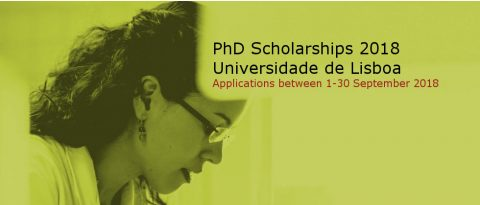 PhD Scholarships 2018 Universidade de Lisboa