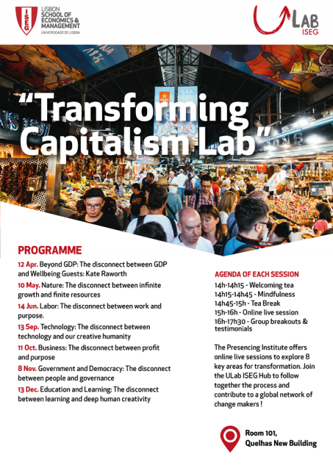 "13 SET 2018 | Transforming Capitalism Lab | ""Technology: The Disconnect Between Technology and our Creative Humanity"""