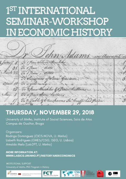 29 NOV 2018 | 1º Seminário-Workshop Internacional em História Económica