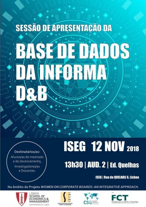 12 NOV 2018, 13h30 | Sessão de apresentação da Base de Dados da Informa D&B
