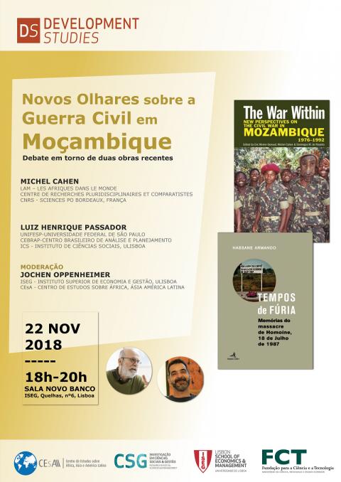 22 NOV 2018 | Novos Olhares sobre a Guerra Civil em Moçambique: Um debate em torno de duas obras essenciais