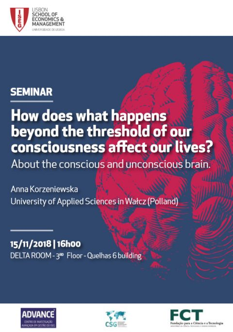 15 NOV 2018, 16h | Seminar: How does what happens beyond the threshold of our consciousness affect our lives?