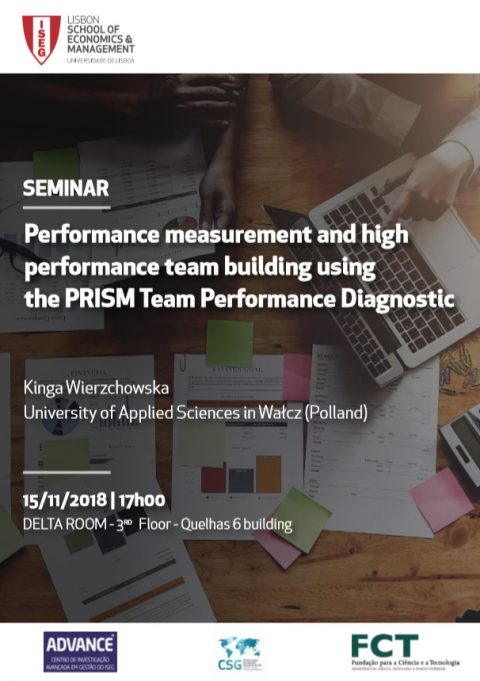 15 NOV 2018, 17h | Seminário: Performance Measurement and High Performance Team Building Using the PRISM Team Performance Diagnostic