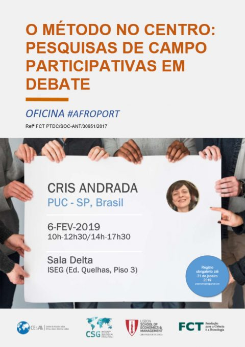 "6 FEB 2019 | Workshop ""The Method in the Center: Participatory Field Research in Debate"" with Cris Andrada (PUC-SP, Brazil)"