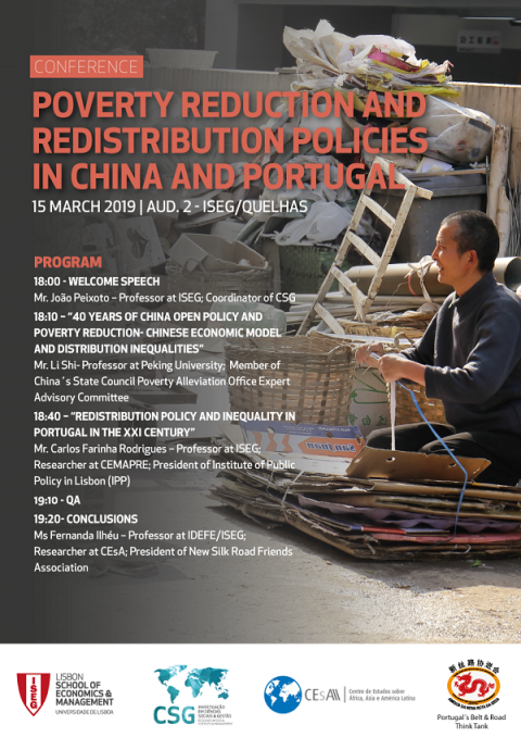 "15 MAR 2019 | Conference ""Poverty Reduction and Redistribution Policies in China and Portugal"""