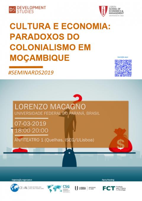 7 MAR 2019 |  Cultura e Economia: Paradoxos do Colonialismo em Moçambique, por Lorenzo Macagno