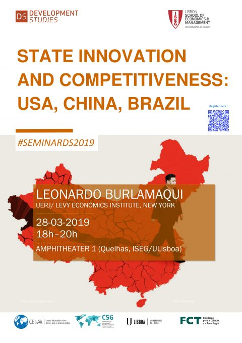 28 MAR, 6 p.m. | State Innovation and Competitiveness: USA, China, Brazil, by Leonardo Burlamaqui