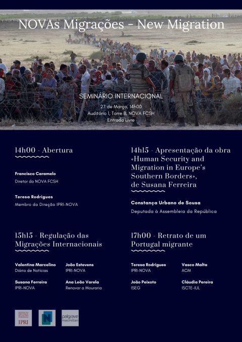 "27 MAR 2019 | International Seminar ""New Migrations"""