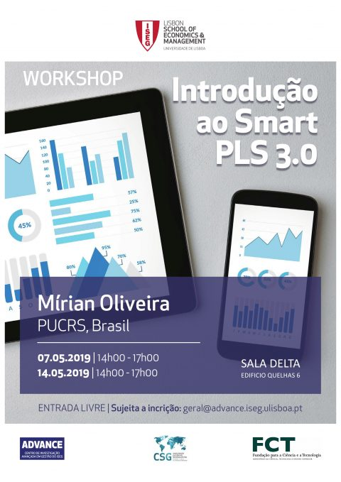"7/14 MAY 2019 | Workshop ""Introduction to Smart PLS 3.0"", by Mírian Oliveira (PUCRS, Brazil)"
