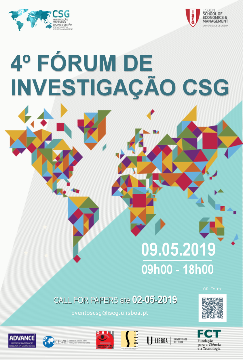 9 MAY 2019 | Call for Abstracts 4th Forum CSG (Extended