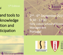 "2-6 SET 2019 | Escola de Verão  Internacional ""Concepts and tools to engage in knowledge  co-production and public participation"""