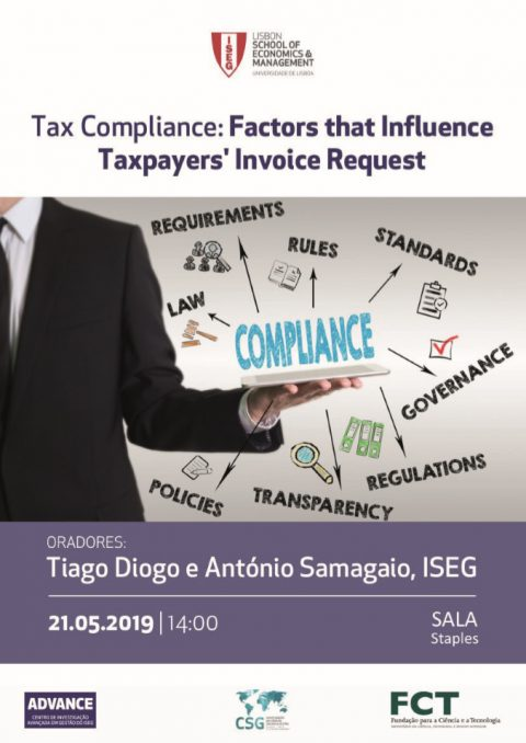 "21 MAY 2019 | Seminar ""Tax Compliance: Factors that influence taxpayers' Invoice Request"""