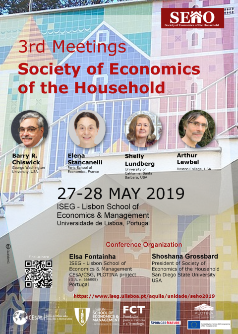 27-28 MAI 2019 | 3rd Meetings of the Society of Economics of the Household