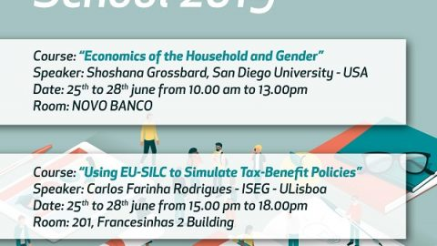 25-28 JUN 2019 | ISEG Summer School 2019