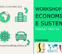 """Workshop """"Circular Economy and Sustainability"""" – Call for abstracts"""