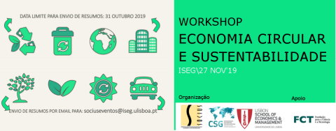 "Workshop ""Circular Economy and Sustainability"" – Call for abstracts"