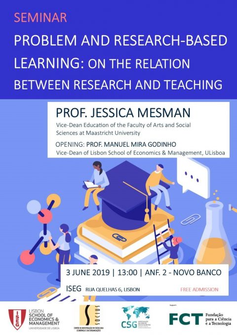 "3 JUN 2019 | Seminário ""Problem and Research-based Learning: on the relation between Research and Teaching"""