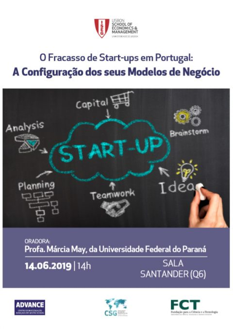 "14 JUN 2019 | Seminar ""The Failure of Start-Ups in Portugal: The Configuration of its Business Models"""