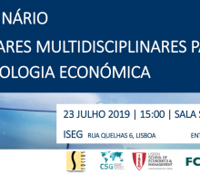 "23 JUL 2019, 3 p.m. | Seminar ""Multidisciplinary Perspectives for Economic Sociology"""