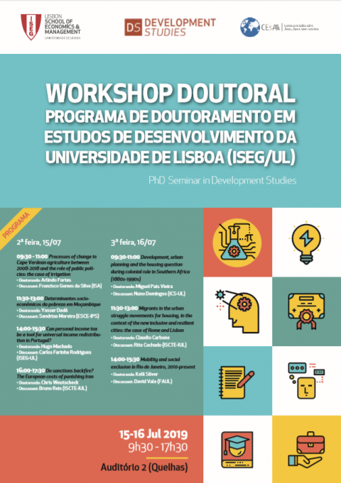 15-16 JUL 2019 | Doctoral Workshop on Development Studies
