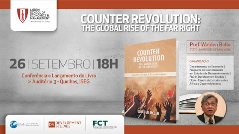 "Conferência e lançamento do livro ""Counter Revolution: The Global Rise of the Far Right"", de Walden Bello"