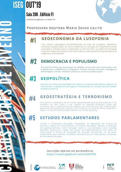Cursos Livres de Inverno: Ciência Política, Relações Internacionais, Economia – Inscrições abertas!