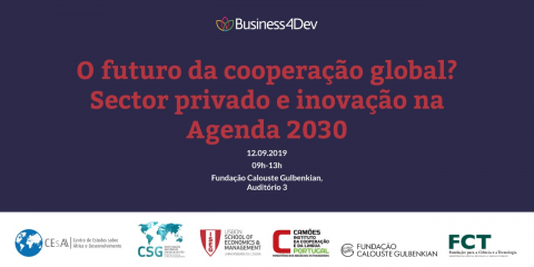 "12 SEP 2019 | Presentation seminar of the results of Business4DEV Project: ""The Future of Global Cooperation? Private Sector and Innovation in the 2030 Agenda"""