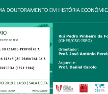 Seminar of the Doctoral Program in Economic and Social History of ISEG