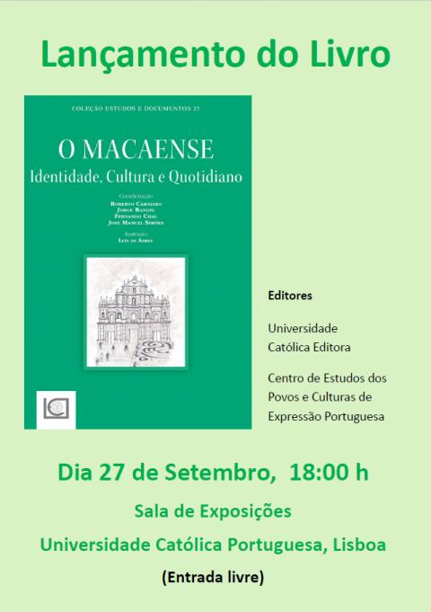 """Lançamento do Livro """"O Macaense: Identidade, Cultura e Quotidiano"""", no encerramento do Colóquio Portugal-China 20/20"""