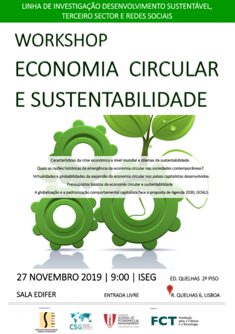 "27 NOV 2019 @ISEG | Workshop ""Circular Economy and Sustainability"""