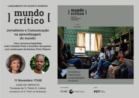 """Lançamento do Nº4 da """"Mundo Crítico – Revista de Desenvolvimento e Cooperação"""", dedicado à relação entre o jornalismo, a comunicação e as questões do desenvolvimento"""