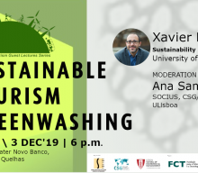 "Palestra ""Sustainable Tourism Greenwashing"", com Xavier Font"