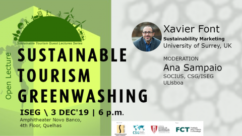 "Lecture ""Sustainability Tourism Greenwashing"", by Xavier Font"