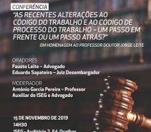 Conferência de homenagem ao Professor Jorge Leite