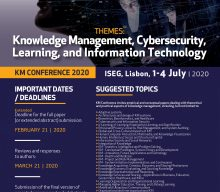 Knowledge Management Conference 2020 – Extended call for papers