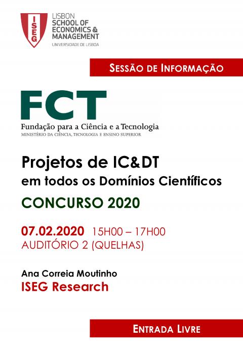 Sessão de Informação Concursos de Projectos IC&DT no ISEG